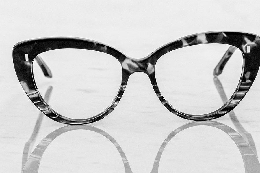 cat eye designer glasses by Cutler and Gross