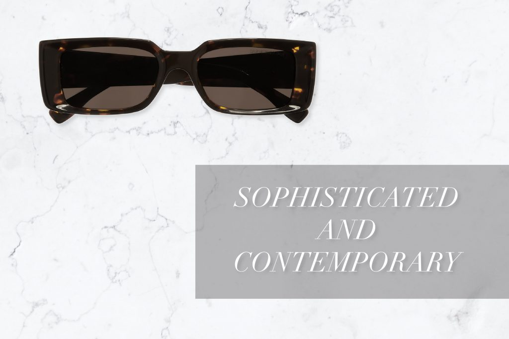 1368 Rectangle Designer Sunglasses by Cutler and Gross