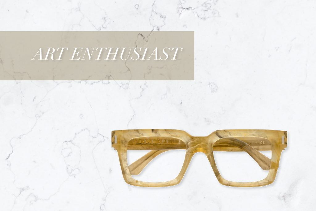 1386 Square Optical Designer Glasses by Cutler and Gross